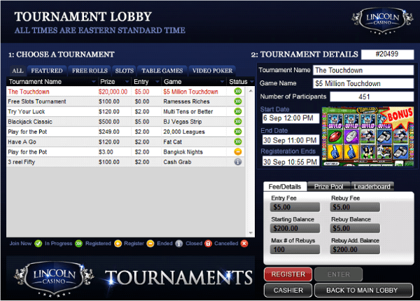 online casinos with free tournaments