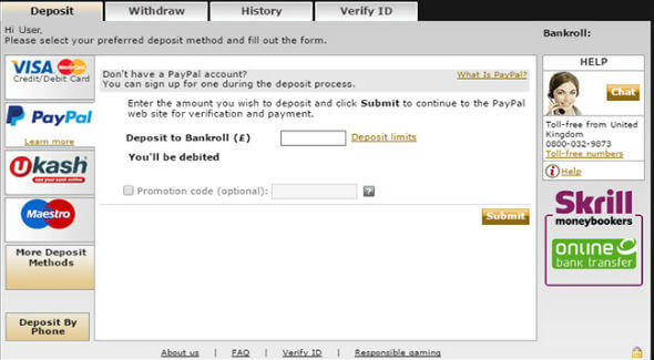 Making Paypal Casino Deposit