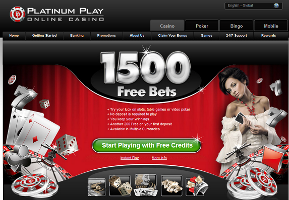 free platinum play online casino