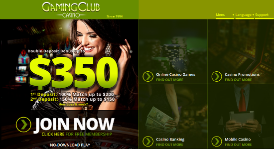 gaming club casino bonus codes