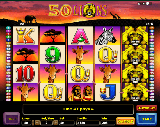 50 Lions Slot Machine - Free Play Slots or to Win Real Money