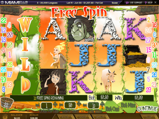 Lucky Beans Slot Free Spins