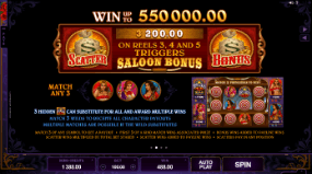 Pistoleras Slot Paytable
