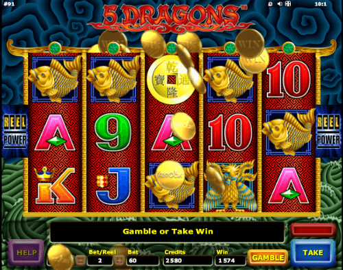 5 dragons slot machine max bet chances