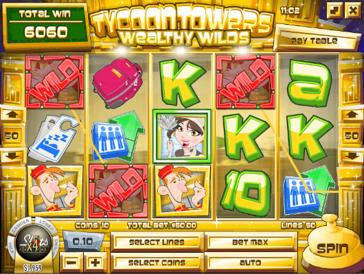 Tycoon Towers Slot Sticky Wilds