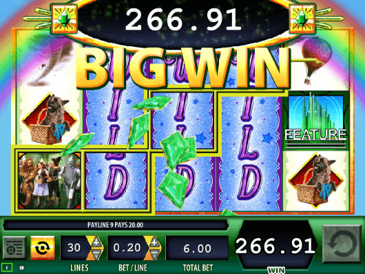 online slot machine wizard of oz