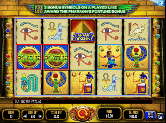 Pharaoh's Fortune 15 Lines Slot