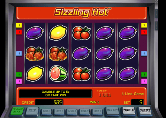 play online casino slots sizzling hot games