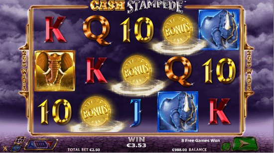 Cash Stampede Free Spins Activation