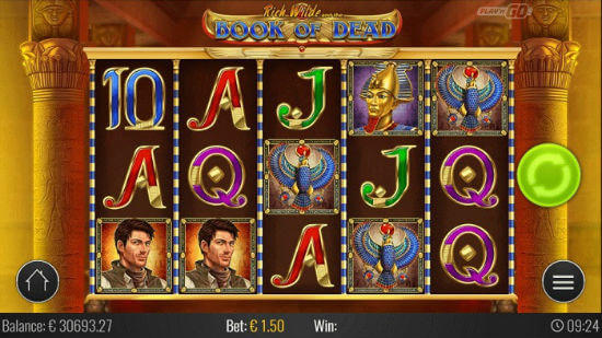 slots machines online book of ran