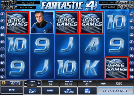 Fantastic 4 Slot Free Games