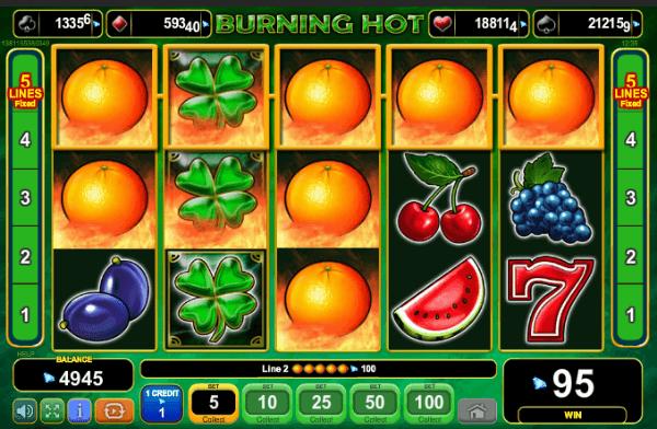 Burning Hot Slot Expanding Wilds