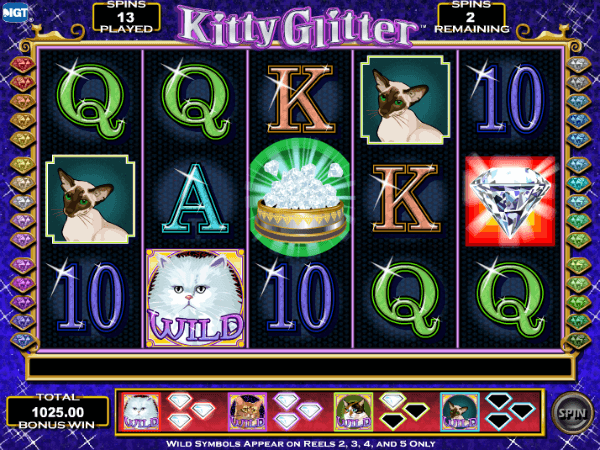 Kitty Glitter Slot Free Spins