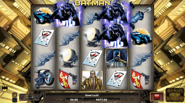 Batman slot machine online dogs playing poker painting meaning