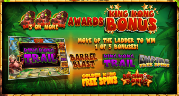 free king kong cash slot machine