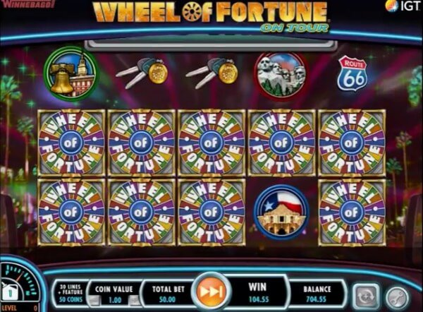 play wheel of fortune slot machine online by games online