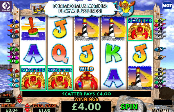 free slot machine lobstermania