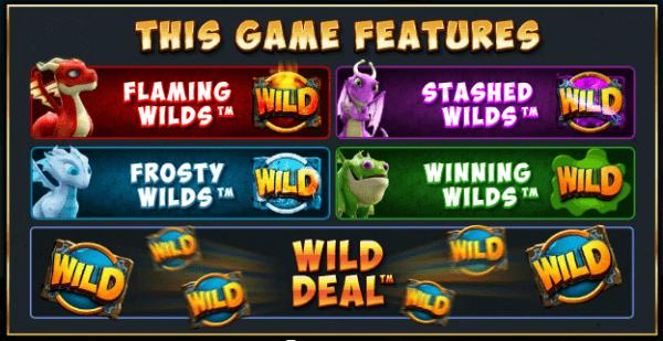 Dragonz Slots Bonus Features