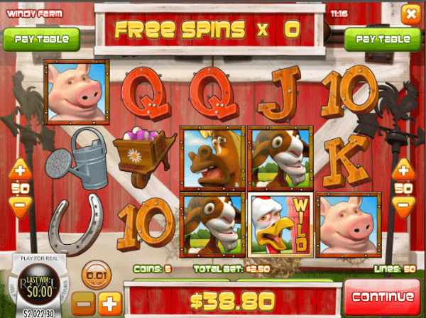 Windy Farm Slot Free Spins