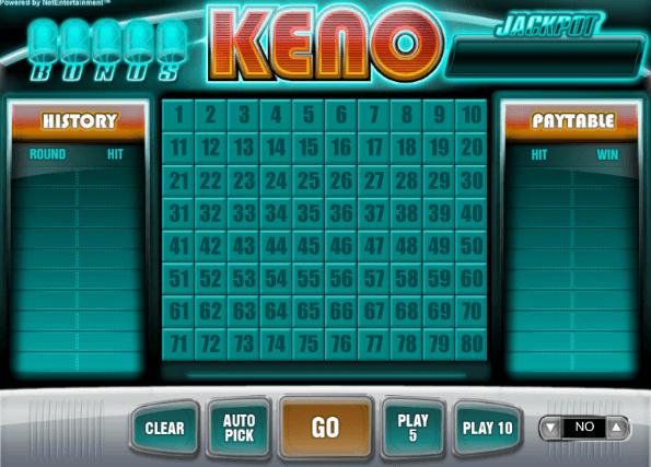 Keno slot machines odds