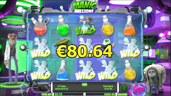 Manic Millions Slot Free Spins