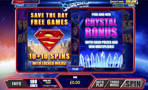 Superman Slot Bonus Features