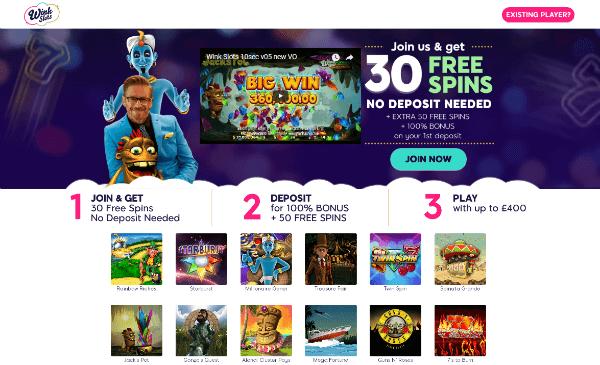 Wink Slots Casino Free Spins