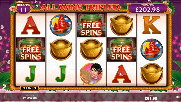 Shangai Beauty Slot Free Spins