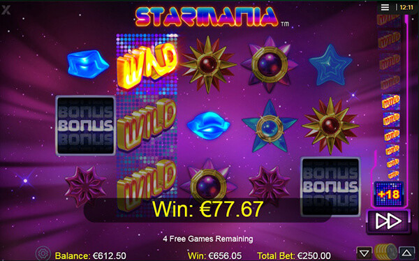 Starmania slot free spins