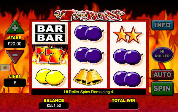 7s to burn free spins