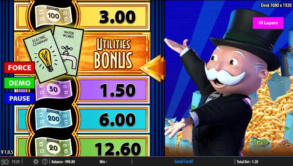 Monopoly Big Money Reel Bonus