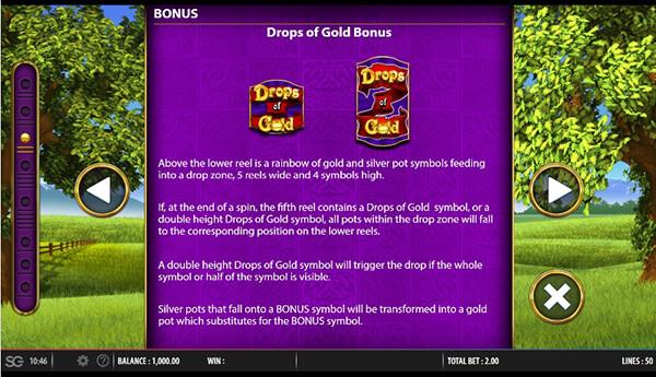 Drops of Gold Slot Bonuses