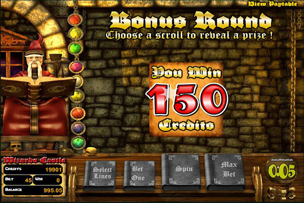 Wizards Castle Slot Bonus Round