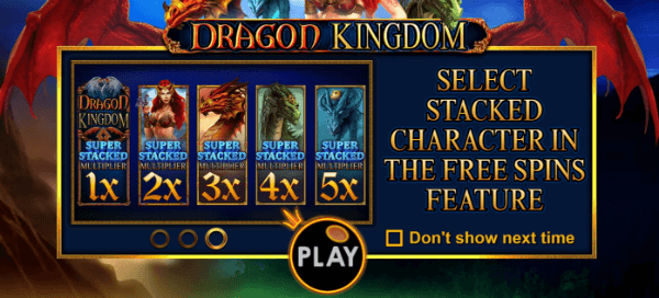 Dragon Kingdom Free Spins