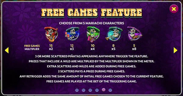 Mariachi 5 Slot Machine Free Spins